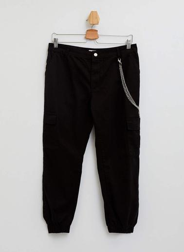 DeFacto Zincirli Kargo Jogger Pantolon Siyah